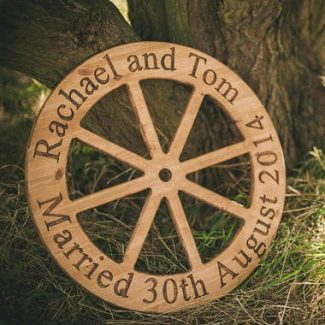 rustic wedding wheel