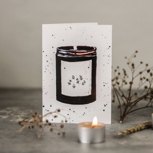 greetings card candle