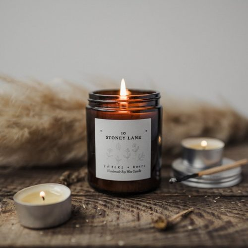 personalised new home candle