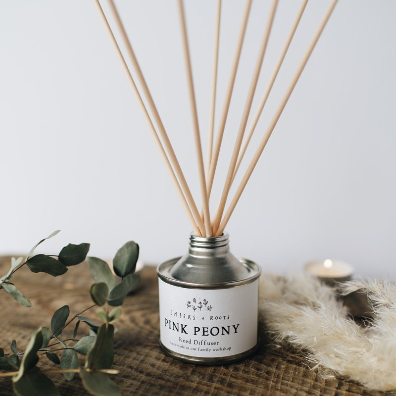 pink peony reed diffuser
